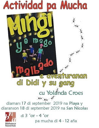 Invitation storytelling by author Yolanda Croes at the National Library Aruba