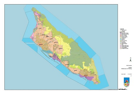 Concept for the first Spatial Development Plan with Regulations for Aruba (ROPV 2019) – Zoning map.