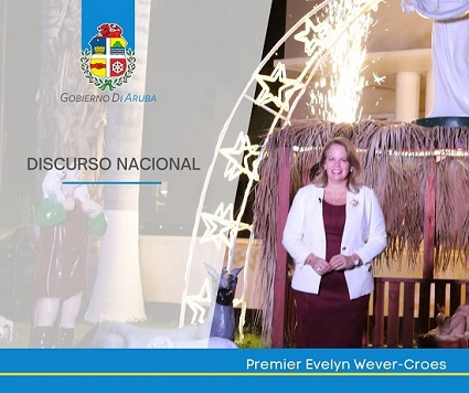 Discurso nacional fin di aña Prome Minister mr  Evelyn Wever-Croes
