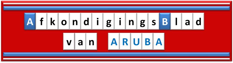 Afkondigingsblad van Aruba